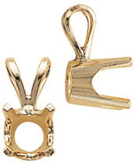 A picture of product 6400: Standard Weight 4 Prong Pendants